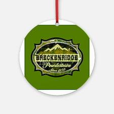 Breckenridge Powdertown Spring Ornament (Round)