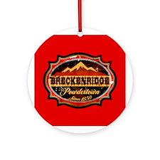 Breckenridge Powdertown Ornament (Round)