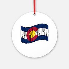 Breckenridge Colorado Flag Ornament (Round)