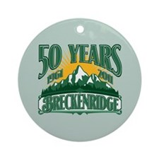 Breckenridge Green Mountain Ornament (Round)