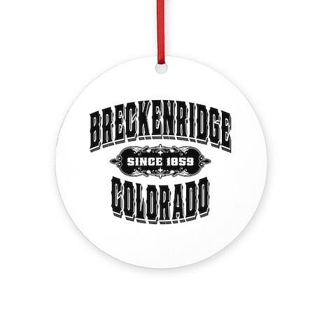 Breckenridge Since 1859 Black Ornament (Round)