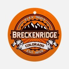 Breckenridge Tangerine Ornament (Round)