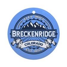 Breckenridge Blue Ornament (Round)
