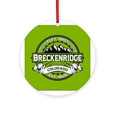 Breckenridge Green Ornament (Round)