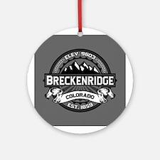 Breckenridge Grey Ornament (Round)