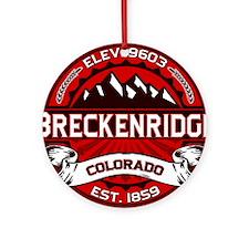 Breckenridge Red Ornament (Round)