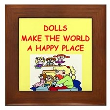 dolls Framed Tile