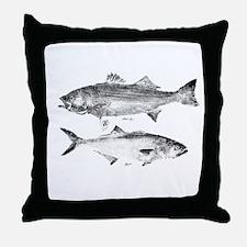 Striper Bass and Bluefish Throw Pillow