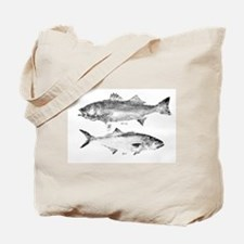 Striper Bass and Bluefish Tote Bag