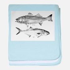 Striper Bass and Bluefish baby blanket