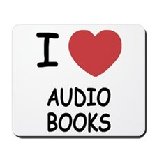 I heart audio books Mousepad