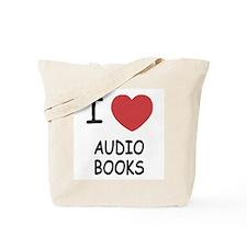 I heart audio books Tote Bag