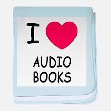 I heart audio books baby blanket