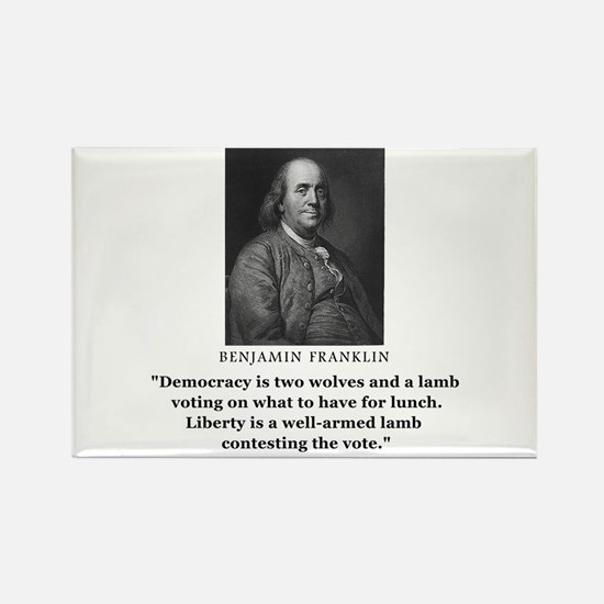 Ben Franklin Contest the Vote Quote Rectangle Magn