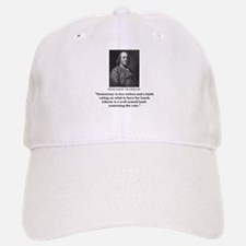 Ben Franklin Contest the Vote Quote Baseball Baseball Cap