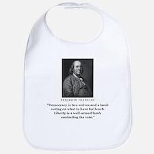 Ben Franklin Contest the Vote Quote Bib