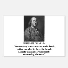 Ben Franklin Contest the Vote Quote Postcards (Pac