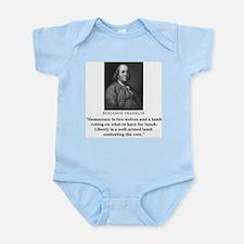 Ben Franklin Contest the Vote Quote Infant Creeper