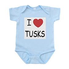I heart tusks Infant Bodysuit