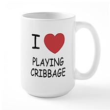 I heart playing cribbage Mug