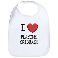 I heart playing cribbage Bib