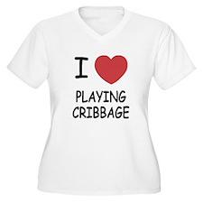 I heart playing cribbage T-Shirt