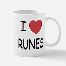 I heart runes Mug