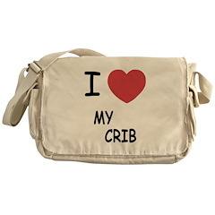I heart my crib Messenger Bag