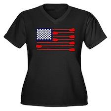 Midge Women's Plus Size V-Neck Dark T-Shirt