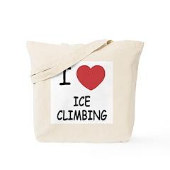 I heart ice climbing Tote Bag