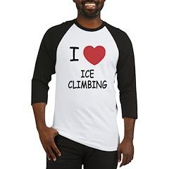 I heart ice climbing Baseball Jersey
