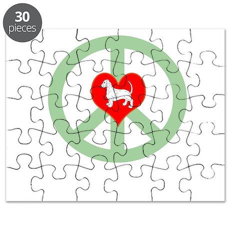 Peace Love Dachshund Puzzle