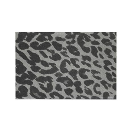 Gray Leopard Print Rectangle Magnet (10 pack)
