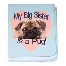 Pug Sister baby blanket