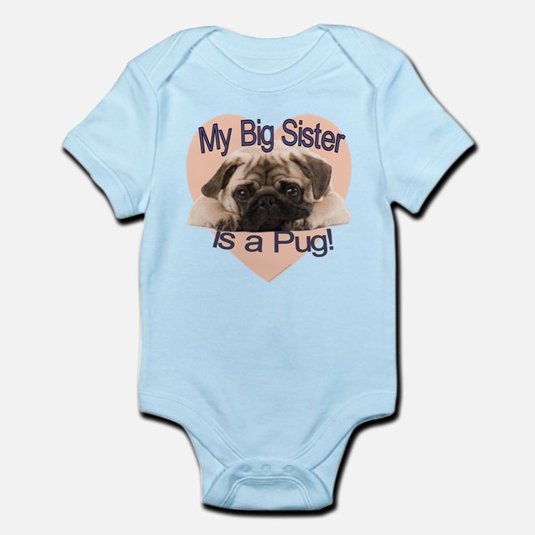 Pug Sister Infant Bodysuit