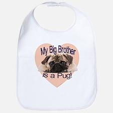 Pug Brother Bib