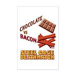 Chocolate VS Bacon Mini Poster Print