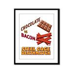 Chocolate VS Bacon Framed Panel Print