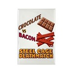 Chocolate VS Bacon Rectangle Magnet