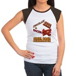 Chocolate VS Bacon Women's Cap Sleeve T-Shirt