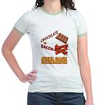 Chocolate VS Bacon Jr. Ringer T-Shirt
