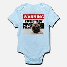 Protected by Pug Infant Bodysuit