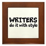 Writers Do It With Style Framed Tile