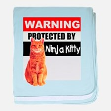 Protected by Ninja Kitty (Ora baby blanket