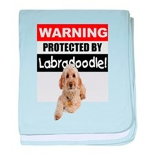 Protected by Labradoodle baby blanket