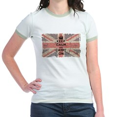 UK Flag with Keep Calm and Ca T