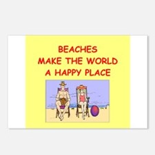 beaches Postcards (Package of 8)