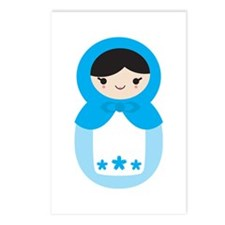 Matryoshka - Blue Postcards (Package of 8)