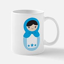 Matryoshka - Blue Mug