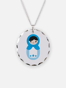 Matryoshka - Blue Necklace